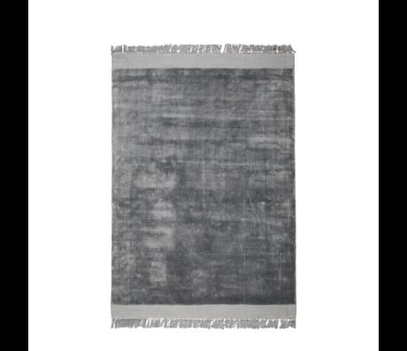 Zuiver Tapis Blink argent gris textile 200x300cm