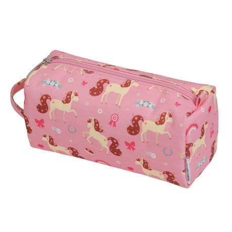 A Little Lovely Company Etui paard roze polyester 20x8x7cm