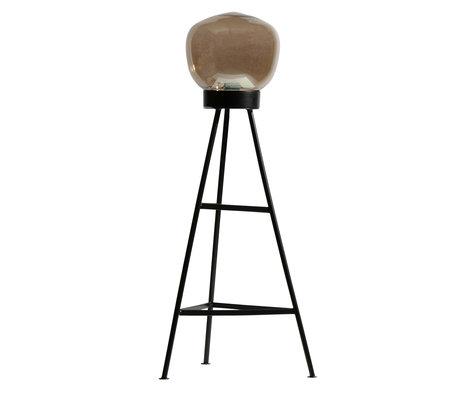 BePureHome Vloerlamp Dome zwart grijs 37x37x84cm