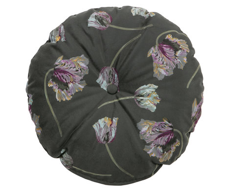 BePureHome Cushion Vogue around rococo aloe velvet Ø45cm