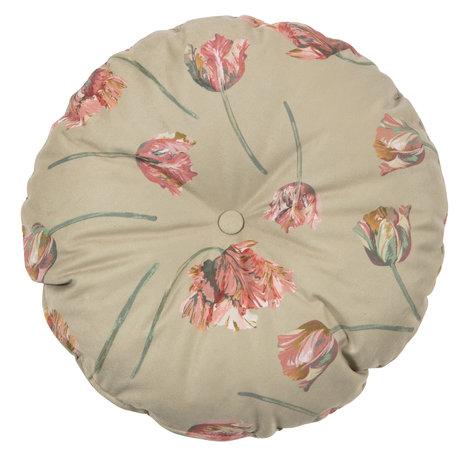 BePureHome Cushion Vogue round rococo agave velvet Ø45cm