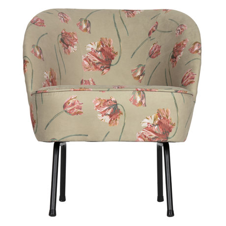 BePureHome Fauteuil Vogue rococo agave fluweel 57x70x69cm