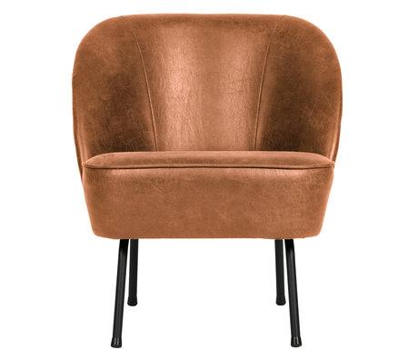BePureHome Armchair Vogue cognac brown leather 57x70x69cm