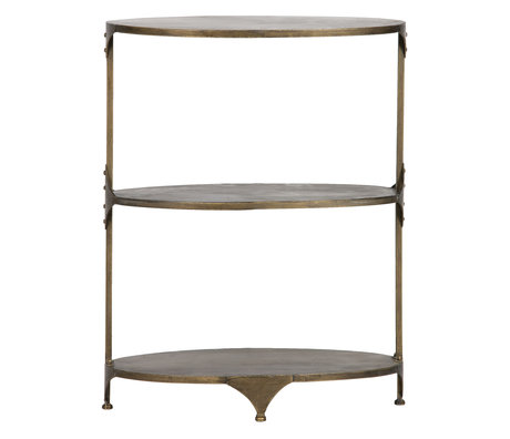 BePureHome Beistelltisch Rank Rack Antik Messing Gold 61x35x78cm