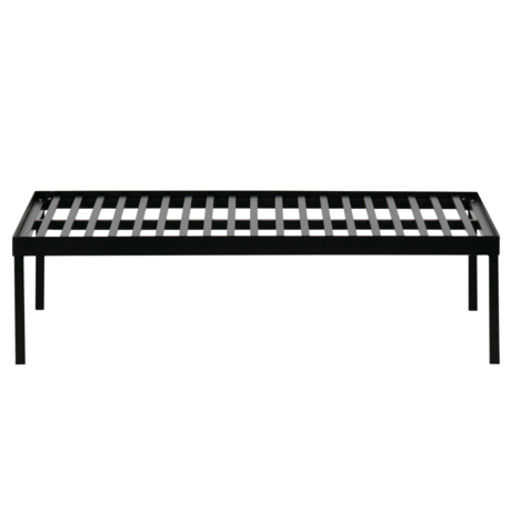 vtwonen Rahmen für Palettenkissen Stelze schwarz Metall 120x80x32cm