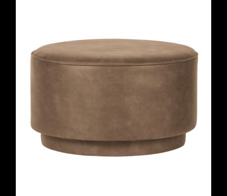 vtwonen Pouf café cognac éco cuir 60x60x36cm