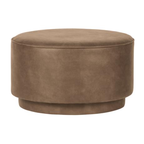 vtwonen Pouf coffee cognac eco leather 60x60x36cm