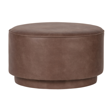 vtwonen Ottoman coffee warm brown eco leather 60x60x36cm