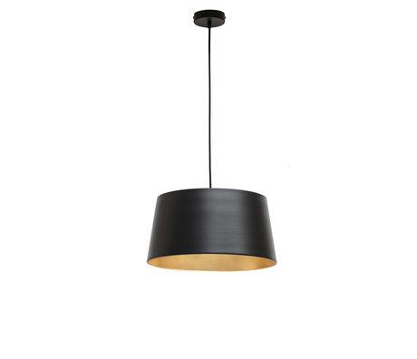 WOOOD Hanglamp Pien zwart metaal 40x40x20cm