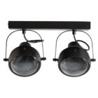 WOOOD Plafondlamp 2 spots Lester zwart metaal 33x14x19cm