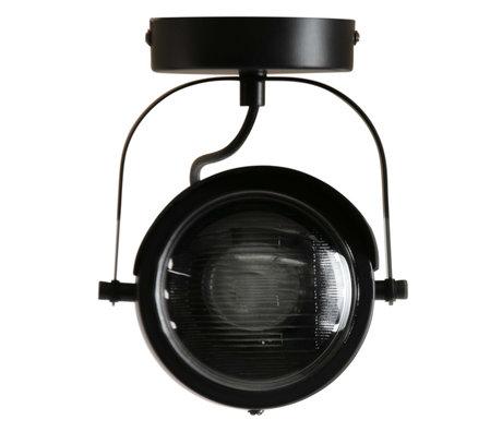 WOOOD Plafondlamp 1 spot Lester zwart metaal 15x14x19cm