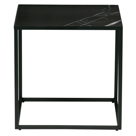 vtwonen Table d'appoint Side M cadre en tôle aspect marbre 45x45x45cm