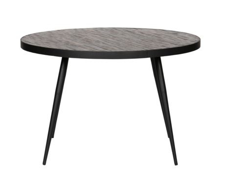 LEF collections Table à manger ronde Vic bois métal Ø120x76cm