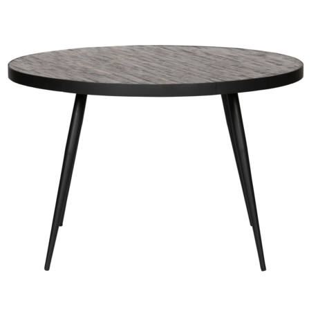 LEF collections Dining table round Vic wood metal Ø120x76cm