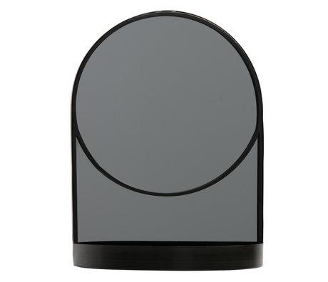LEF collections Miroir Malik métal noir 30x15x40cm