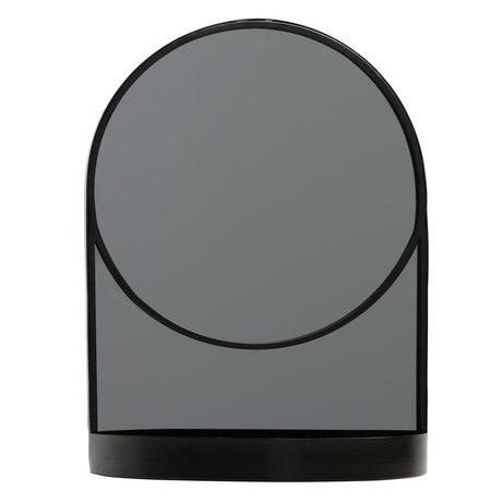 LEF collections Spiegel Malik zwart metaal 30x15x40cm