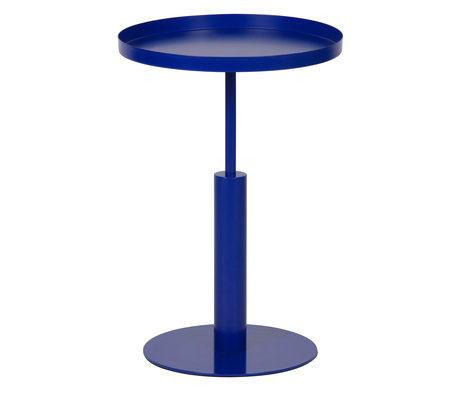 LEF collections Beistelltisch Silke blau Metall Ø40x60cm