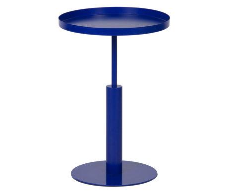 LEF collections Table d'appoint Silke bleu métal Ø40x60cm
