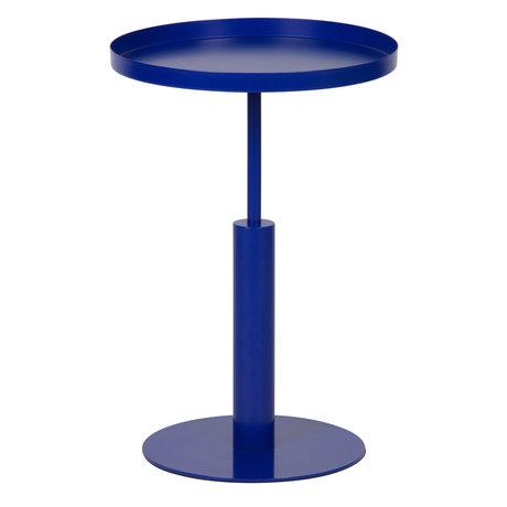 LEF collections Bijzettafel Silke blauw metaal Ø40x60cm