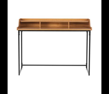 LEF collections Bureau Riff bruin hout metaal 120x60x90cm