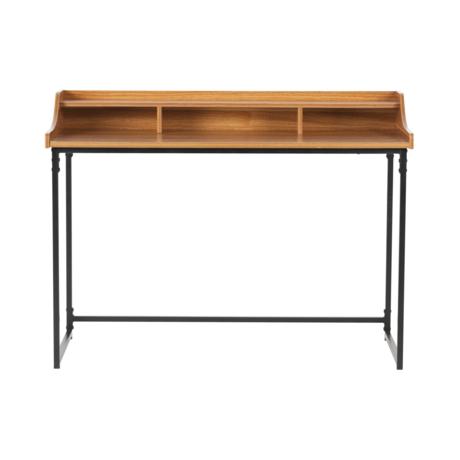 LEF collections Schreibtisch Riff braun Holz Metall 120x60x90cm