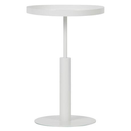 LEF collections Table d'appoint Silke en métal blanc Ø40x60cm