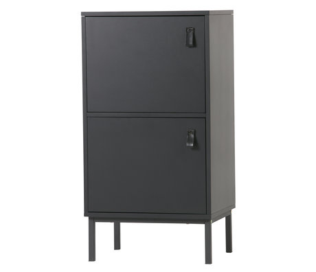 LEF collections Cupboard Nico black MDF 45x35x85cm