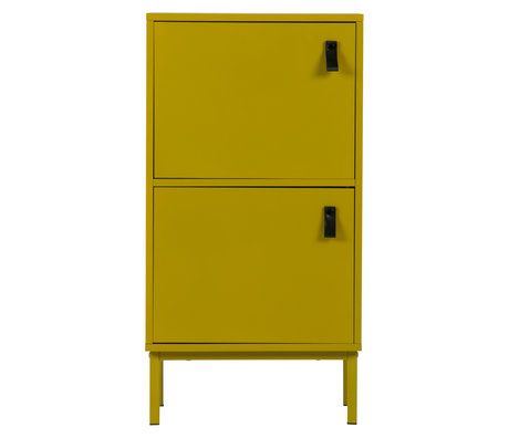 LEF collections Armoire Nico jaune moutarde MDF 45x35x85cm