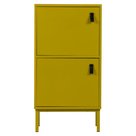 LEF collections Cupboard Nico mustard yellow MDF 45x35x85cm