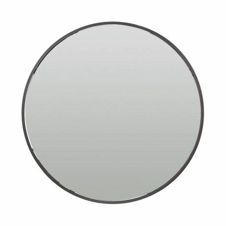 LEF collections Armoire de toilette Olivia en métal noir ø60cm endommagé
