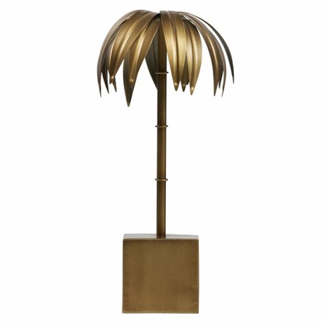 BePureHome Palm M Antik Messing Gold Metall 40x19x19cm - Copy