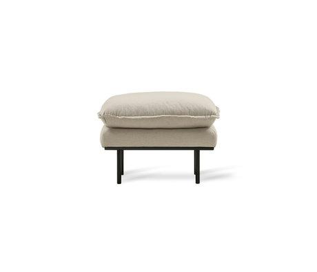 HK-living Hocker Retro beige textile 72x65x46cm