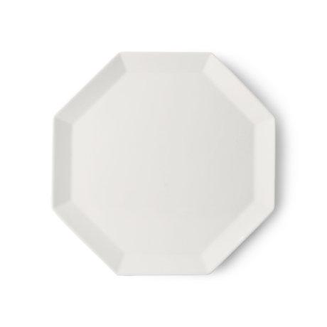 HK-living Dinerbord Athena Octagonal wit aardewerk 27x27x1,5cm