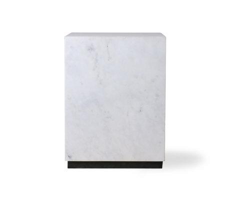HK-living Table d'appoint Block marbre blanc M 28x28x37.5cm