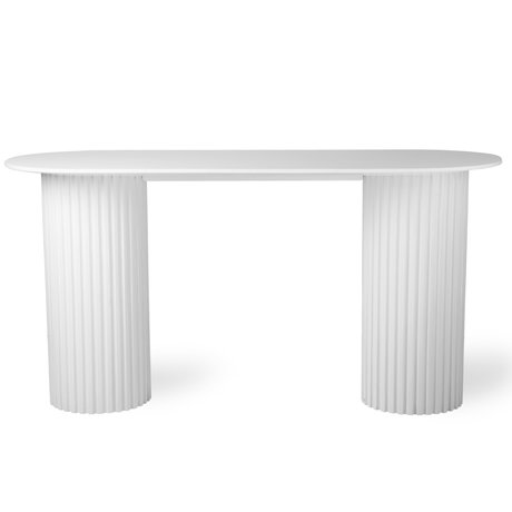 Sidetable Wit Hout.Sidetable Pillar Round Wit Hout O80x72cm Wonenmetlef Nl