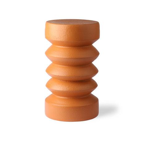 HK-living Bijzettafel Terra oranje aardewerk Ø23x41cm
