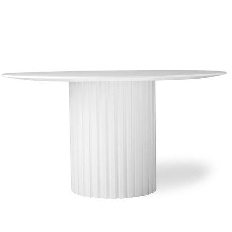 HK-living Eettafel Pillar round wit hout Ø140x75cm