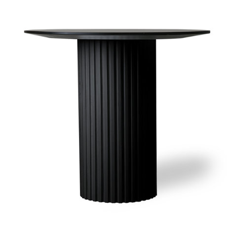 HK-living Sidetable Pillar round black wood Ø80x72cm