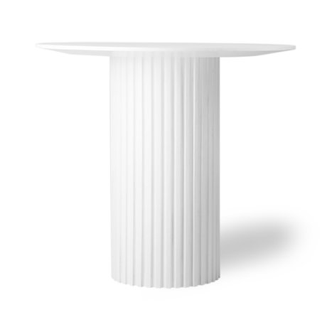 HK-living Sidetable Pillar round white wood Ø80x72cm