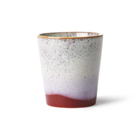 HK-living Mug 70's Frost multicolore en céramique 7,5x7,5x8cm