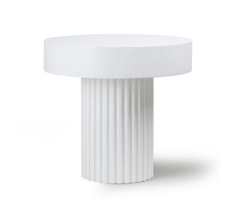 HK-living Coffee table Pillar round white wood Ø49x46cm
