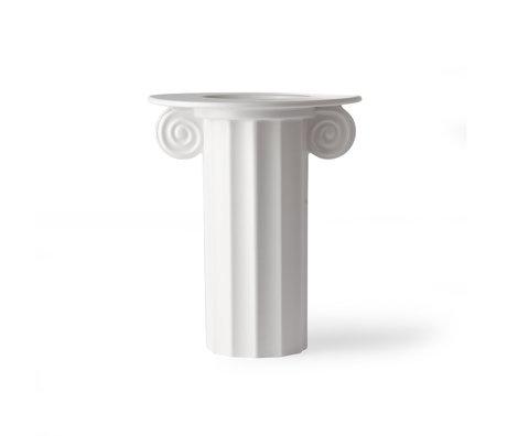 HK-living Vaas Greek B wit keramiek 21x21x25,5cm