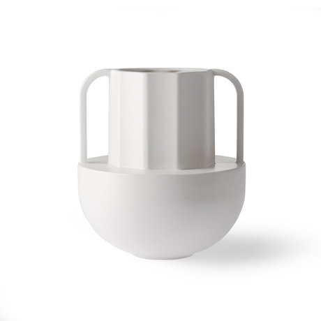 HK-living Vase Greek D white ceramic 22.5x22.5x24.5 cm