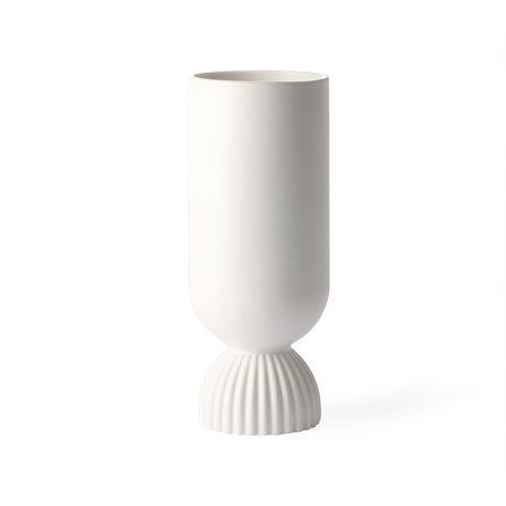 HK-living Vase Céramique blanche Ø11x25cm