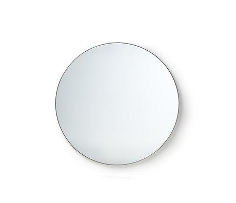 HK-living Spiegel Rundes Spiegelglas Metall M Ø80cm