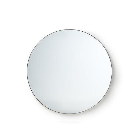 HK-living Miroir rond en verre miroir métal M Ø80cm