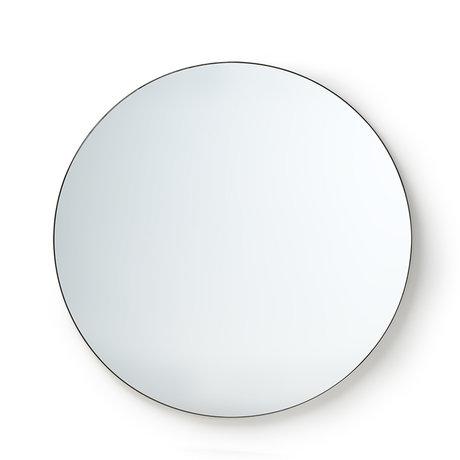 HK-living Miroir rond en verre miroir en métal L Ø120cm