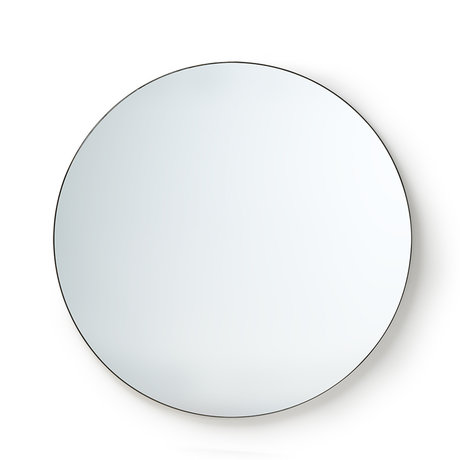 HK-living Mirror Round mirror glass metal L Ø120cm