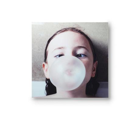 HK-living Painting Bubble gum multicolour plexiglass 80x80cm