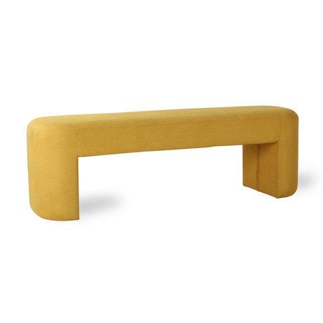 HKliving Sofa Lobby yellow ocher textile 120x40x45cm